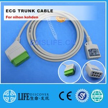 Cable troncal ECG de 5 cables para monitor de paciente nihon kohden(China)