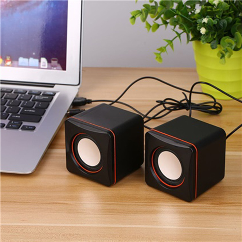 Mrs win Tragbare Mini Lautsprecher 3,5mm Wired Desktop Laptop Lautsprecher Multimedia USB Computer Lautsprecher Super Bass Musik-player