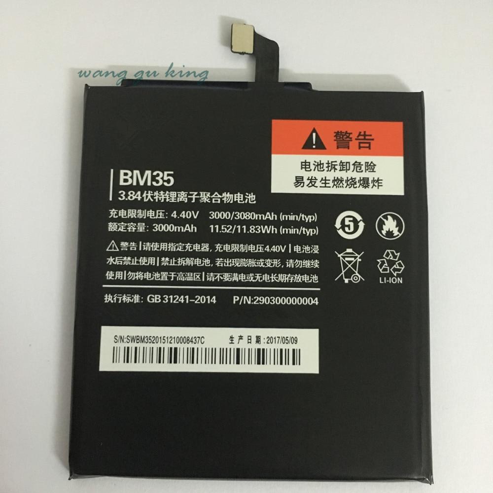 100% Nuova Batteria di Ricambio Per Xiaomi Mi4C Mi 4C Batteria Del Telefono Mobile Per Xiaomi Mi4C BM35 3000 mAh In Magazzino