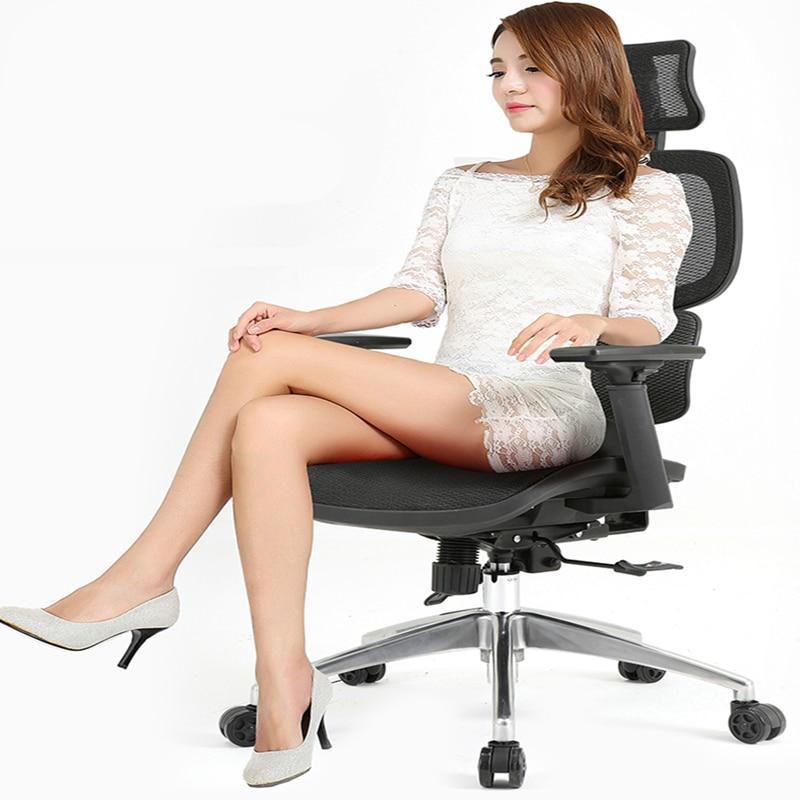 Ergonomia Cadeira de Escritório Malha Pano Cinta Multifunções Computador Cadeira Reclinável Levantou Gaming Cadeira Casa Cadeira Giratória