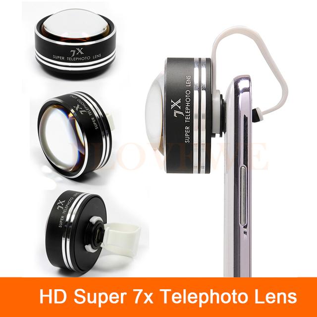 HD Super 7X Telefoto Lente Lentes de Câmera Do Telefone Telescópio Óptico Com Clips para xiaomi redmi 2 3 s 4 nota 3 mi4 mi5 mi6 nokia