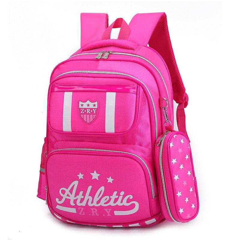 2019 New Kids School Bag Boy's Backpack Fashion girls School Bag School Backpack Waterproof Kid's Bag double Zipper mochila