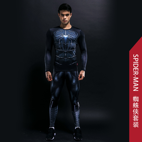 Bodysuit Skinny Men Funny T shirt 3d Plus Compression Sets Long Fitness Suits High Quality Leggings Polyester Male Crossfit Lahore