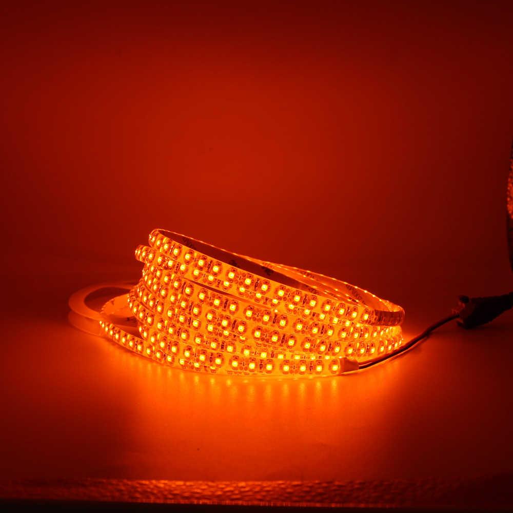 Taśma led light 600nm prawdziwa pomarańczowa bez bursztynu żółta wodoodporna 3528 5050 SMD 120 leds/m świąteczna taśma sznurkowa lampa 12V