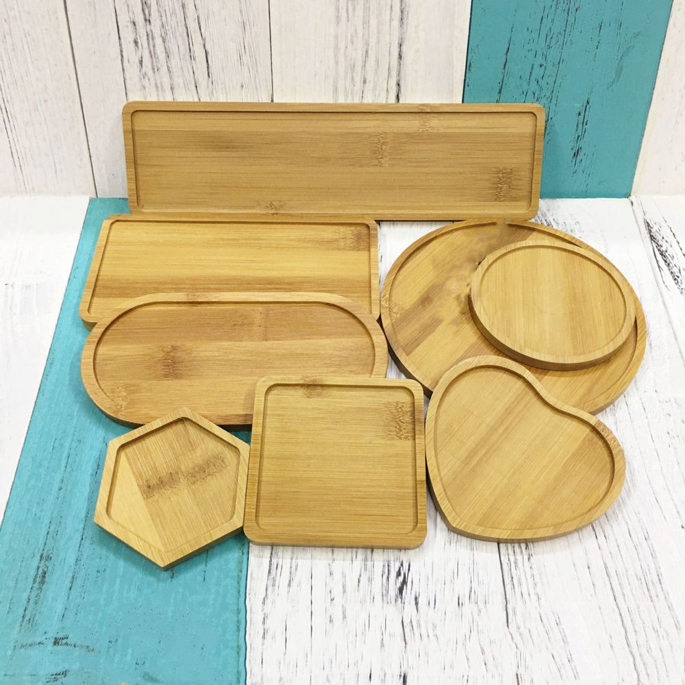 Creative DIY Personality Practical Design Mosaic Coaster Handmade Accessories Square Love Round Hexagon Bamboo Groove ZXY9766