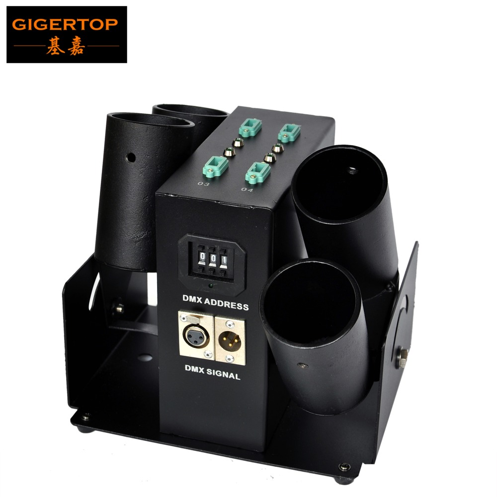 Freeshipping TIPTOP TP T181 Electric 4 Head Confetti Machine AC110V 240V Smoke Free Salute 50W Suit