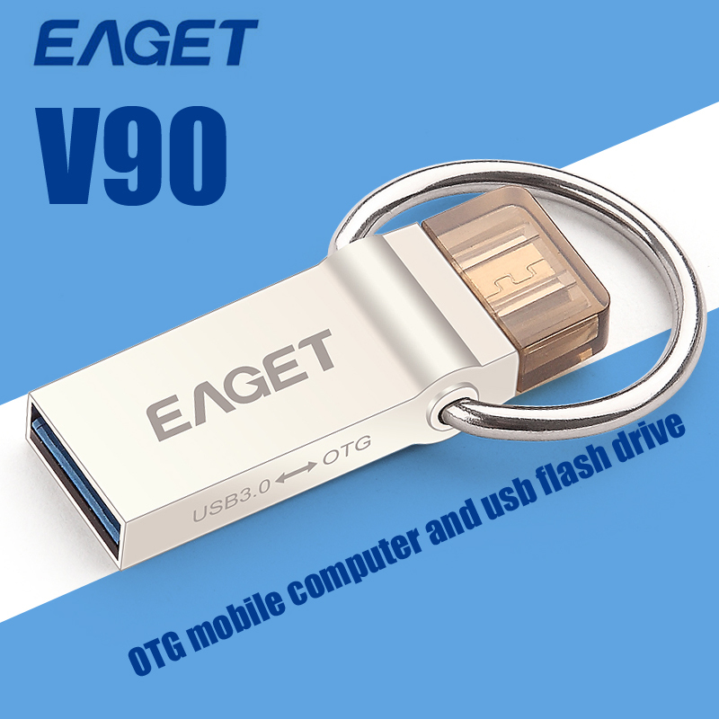EAGET V90 USB 3.0 32GB Flash Drive Waterproof Micro OTG Android Mobile Window PC