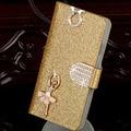 Кожа Телефон Сумка для HTC ONE E9 Плюс Флип Стенд задняя Крышка С Держателем Карты Цветок Бабочка Lucky Star чехол