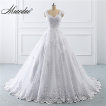 2019 Wedding Dress Arabic Lace Cap Sleeve Ball Gown Bridal Dresses Princess Real Photo Custom Vestido De Noiva New