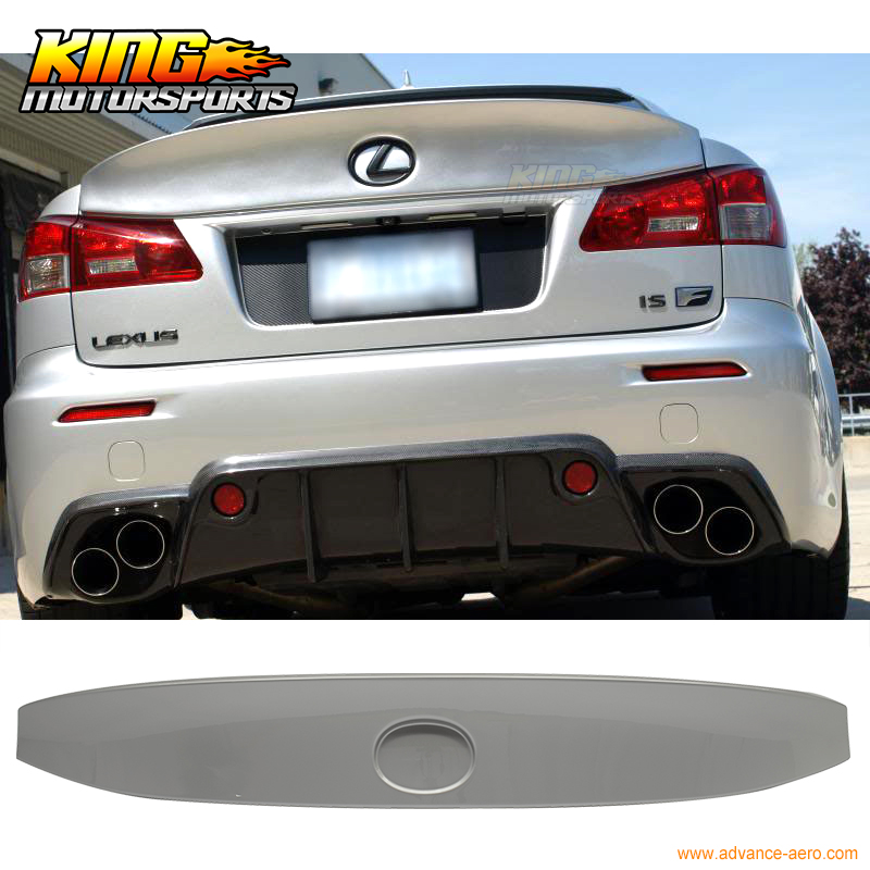 For 06 13 Lexus Is250 Is350 Type IK Trunk Spoiler Tungsten