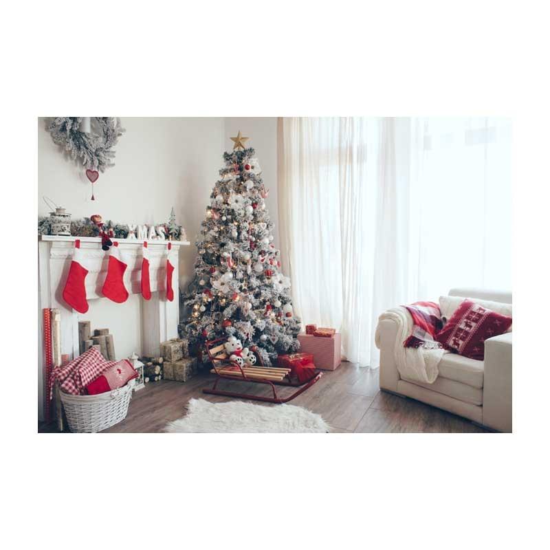 Horizontal vinyl print 3D warm white Christmas room photography backdrop for photo studio portrait backgrounds ST-509 8x10ft valentine s day photography pink love heart shape adult portrait backdrop d 7324