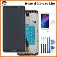 Pantalla LCD para huawei mate 10 lite de 5,9 pulgadas con Pantalla de marco para película templada de repuesto Nova 2i RNE-L21 + herramienta