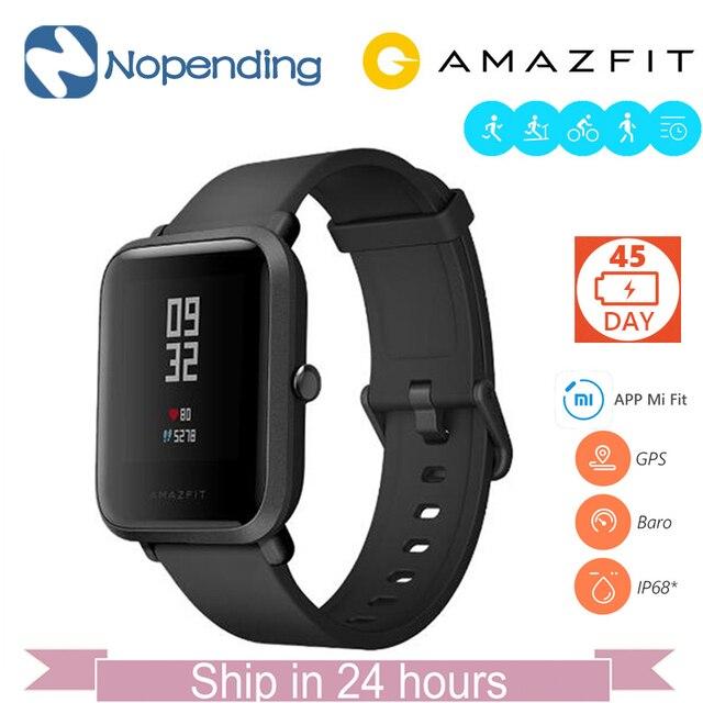 В наличии английская версия оригинальный Хуа Mi Amazfit Bip бит темп Lite Смарт-часы Ми Fit отражение SmartWatch Водонепроницаемый для xiao mi