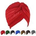 Bandanas Muslim Headscarves Unisex Chemo Pleated Pre Tied Head Cover Up Glitter Wrap Knit Bonnet Turban India Cap For Women Men