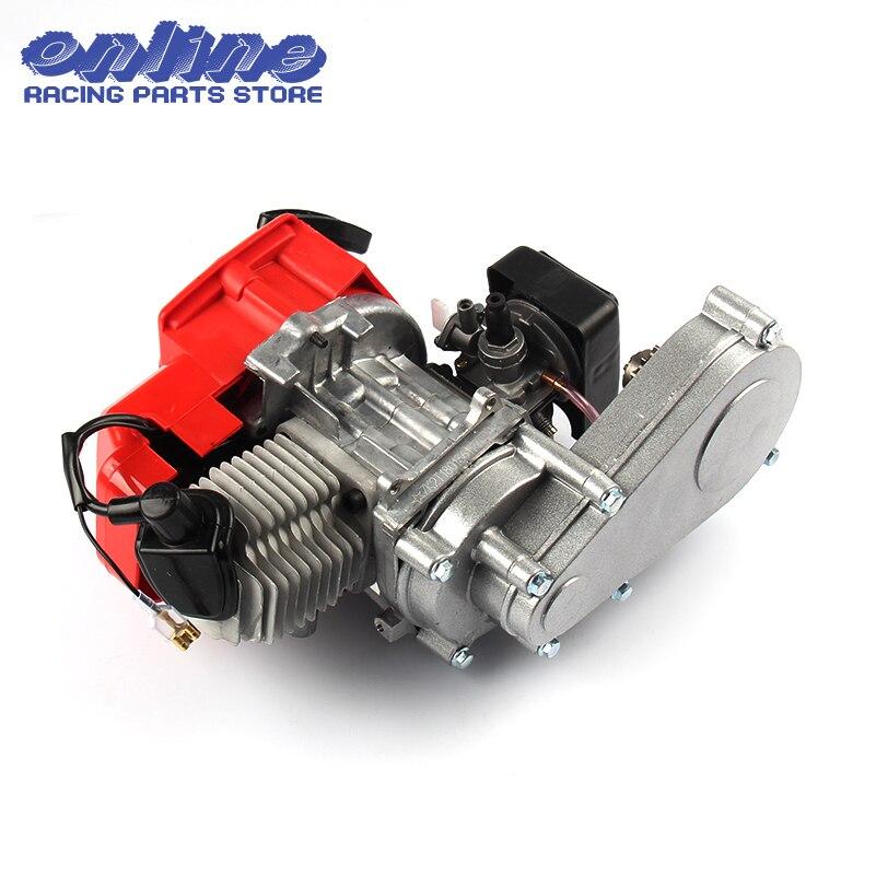 49CC 2 Stroke Motor Engine with T8F 14t Gear Box Easy to Start Pocket Bike Mini