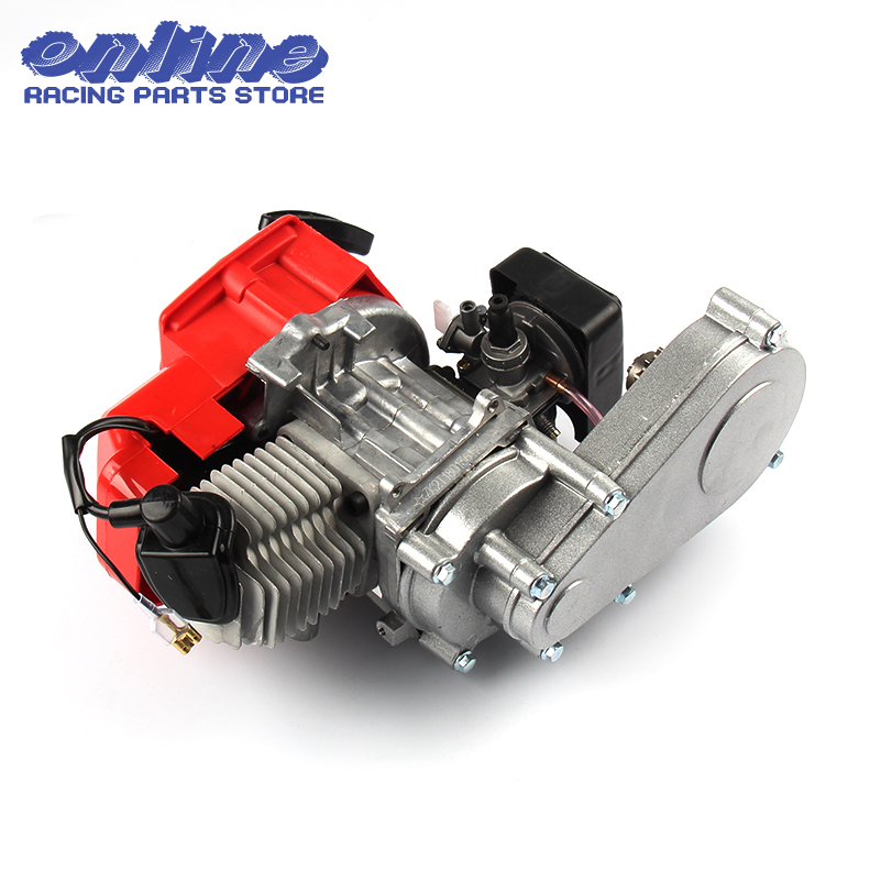 49CC 2 Stroke Motor Engine with T8F 14t Gear Box Easy to Start Pocket Bike Mini Dirt Bike Engine DIY Engine mini carb carburetor w air filter for 47cc 49cc mini moto atv dirt pocket bike