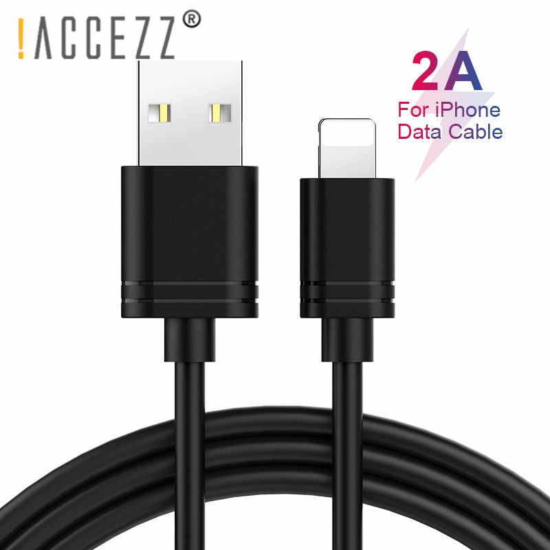 ! ACCEZZ TPE USB kabel do Apple iPhone X XS MAX XR 8 7 6 S 5 Plus iPad Mini Tablet szybkie ładowanie kable do transmisji danych oświetlenie linii ładowania