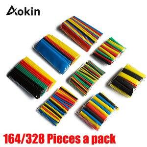 Kurczenie się termokurczliwe rury 328 sztuk kolorowe 2:1 rurki poliolefinowe 164 sztuk bluzka z rękawami zestaw przewodów rur Wrap rękawem Assorted 8 rozmiar