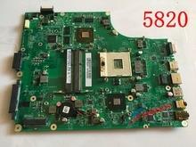 Новый. ptn06.001 mbptn06001 для acer aspire 5820 5820tg материнская плата для ноутбука dazr7bmb8e0 hm55 ddr3 hd5650 дискретной графикой