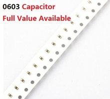 200 Uds 0603 SMD condensador 4.7NF 10NF 22NF 47NF/472/103/223/473/M/K/Z 50V 4700/P/PF 0,01 UF 0.022UF 0.047UF X7R