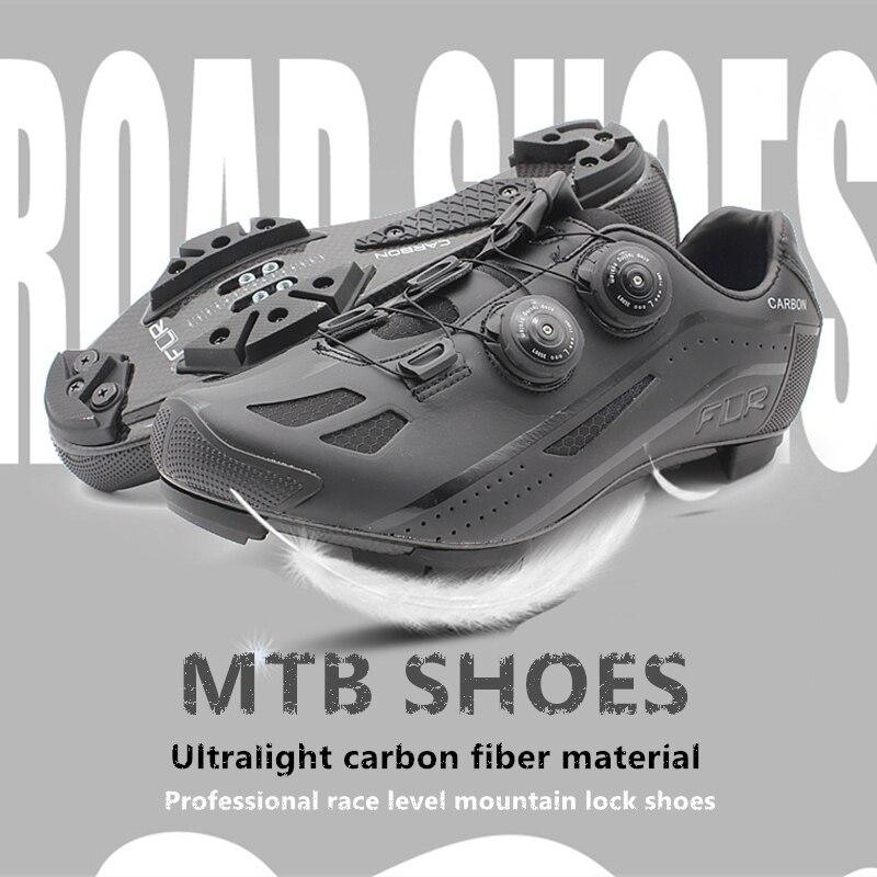 2018 FLR профессиональной гонке углеродное волокно MTB велосипед обувь замок обувь дышащая ultra light racing team Mountain спортивные туфли