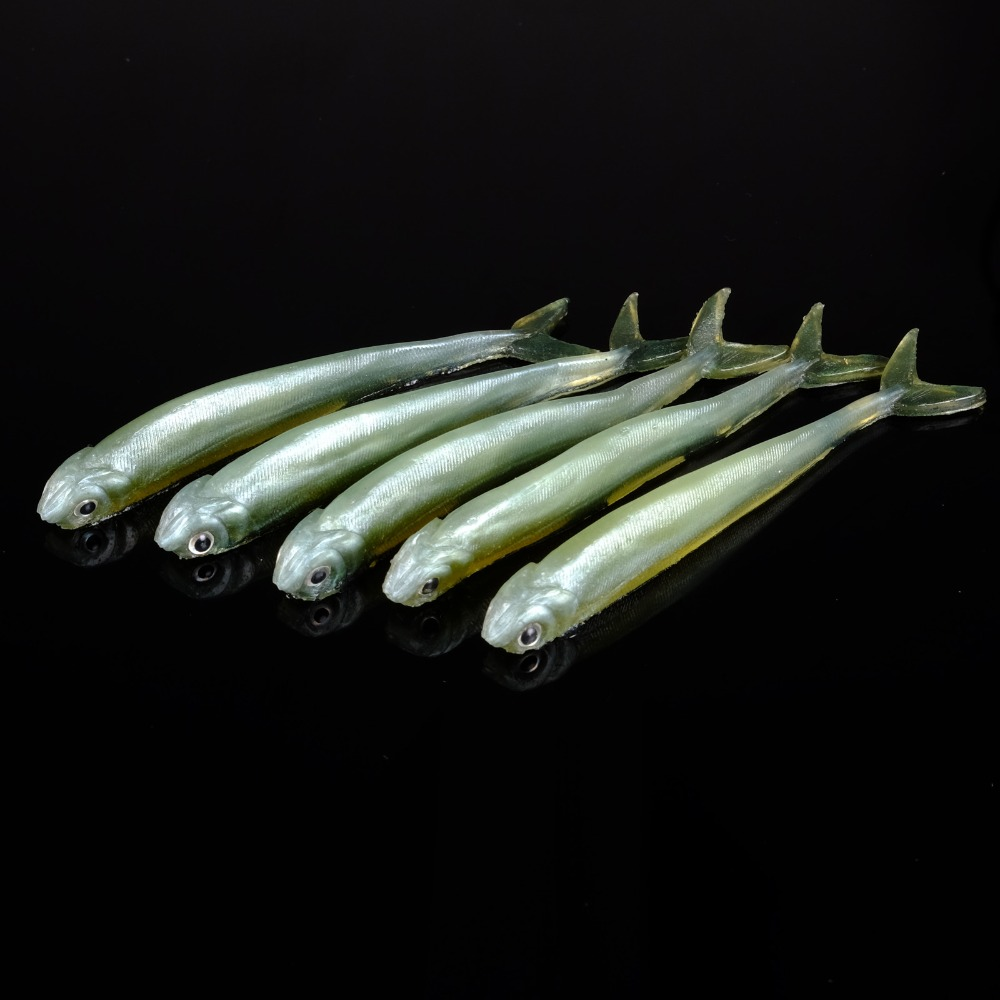 10 pcs sf soft fishing lures worm bass trout shad crank for Worms for fishing bait