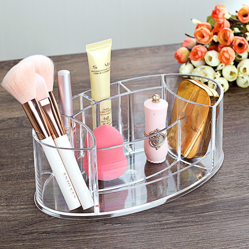 Tabletop Transparent Makeup Organizer Made of Acrylic for Storage of Lipstick Makeup Brush Nail Polish and Cosmetics of Women 1