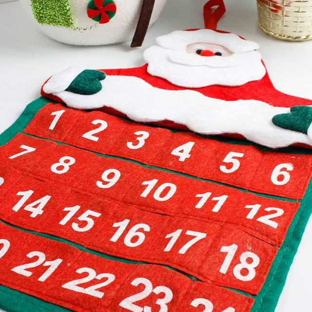 Santa Claus de Navidad Calendario de Adviento Navidad Decoraciones
