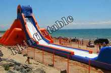Outdoor Giant Beach Inflatable Hippo Water Slide