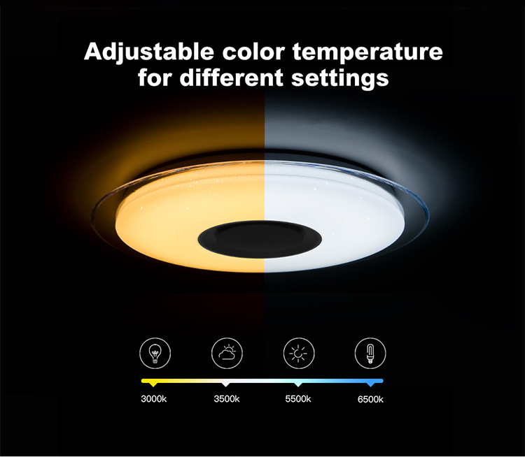 HTB174Moblv0gK0jSZKbq6zK2FXat Smart led ceiling Light RGB Dimmable 25W 36W 52W APP control Bluetooth & Music modern Led ceiling lamp living room/bedroom 220v