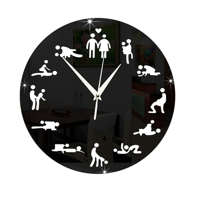 aliexpress acheter 3d de e amusant horloge murale adulte