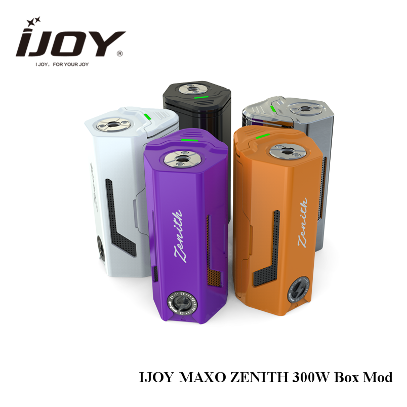 Orginal iJoy MAXO ZENITH Box Mod 300W No 18650 Battery for ijoy RDTA 5 Tank Atomizer Electronic Cigarette Mod 510 original 225w ijoy captain tc kit 2 6ml rdta 5s atomizer tank w ijoy captain pd1865 box mod kit no 18650 battery vs alien