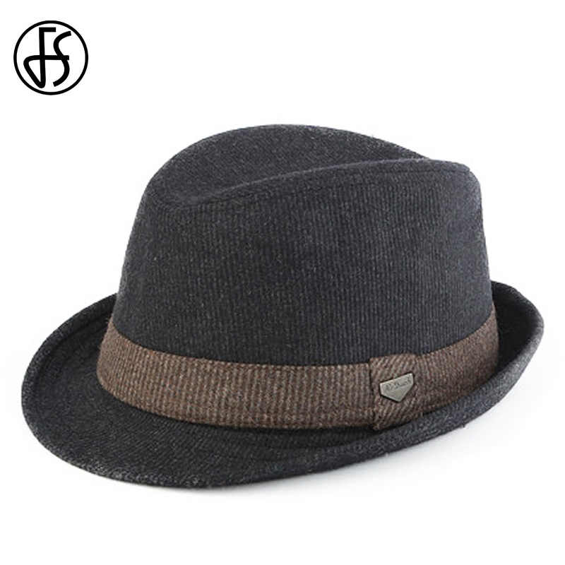 92014e901 Detail Feedback Questions about FS Black Gray Striped Trilby Hat For ...