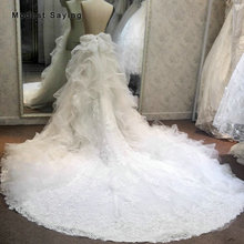 Роскошные юбки цвета слоновой кости с оборками и цветами, с большим бантом для свадьбы, 2018, кружевная Съемная фотоюбка с бисером для невесты