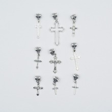 Mix 27pcs Vintage silver plated  Metal crosses Charms crosses pendant for DIY jewelry  making mix 30pcs vintage silver plated metal key charms key pendant for diy jewelry making