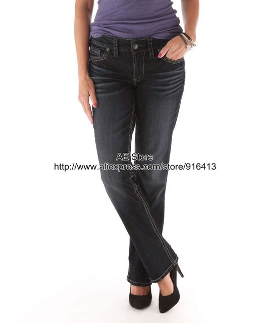 Aliexpress.com : Buy Silver Jeans WomanSuki SLIM BOOTCUT Ladies