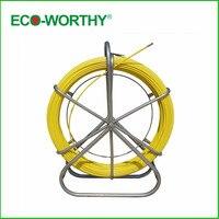 Рыба лента Электрический Reel жильный кабель работает стержень Протока Rodder Fishtape Съемник 6 мм используется для телекоммуникационных, стены и п