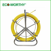 Fish Tape Electric Reel Wire Cable Running Rod Duct Rodder Fishtape Puller 6mm used for Telecom, Wall and Floor Conduit