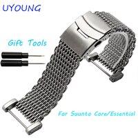 جودة عالية الفولاذ الصلب watchband 24 ملليمتر ووتش الشريط ل suunto الأساسية/ضروري ل رجل