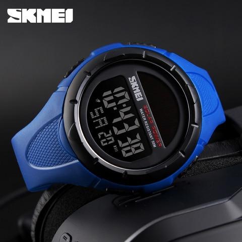 SKMEI Solar Power Men Sports Watches Waterproof LED Digital Watch Men Luxury Brand Electronic Mens Wrist Watch Relogio Masculino Islamabad