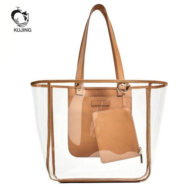 26bb9f91be93 placeholder KUJING Brand Fashion Handbag Transparent Women Hand Shopping  Bags Cheap High Quality Women Shoulder Bag Travel