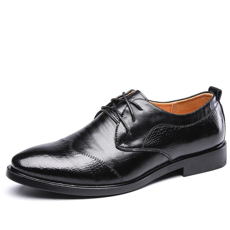 brown Printemps Mode En Cuir Sociale Chaussures ÉlégantMs8116121 Hommes Bureau Marque De Black Véritable dxthsQCBr