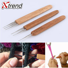 3pcs Hook Crochet Needle For Synthetic Hair Extension Tool And Making Jumbo Senegalese Twist Micro Braids Wigs Xtrend(China)