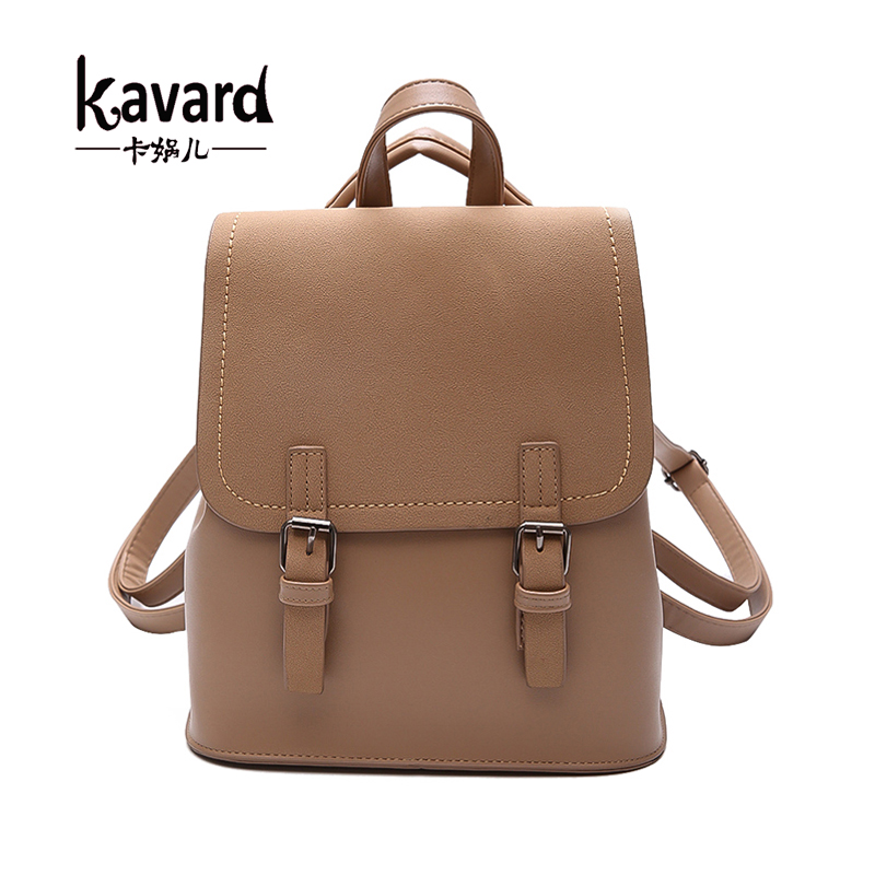 Kavard Cute Backpack Women Backpacks Fashion Small School Bags for Girls Black Scrub PU Leather Female Backpack Mochila 2017 New women backpacks fashion pu leather shoulder bag small backpack women embroidery dragonfly floral school bags for girls