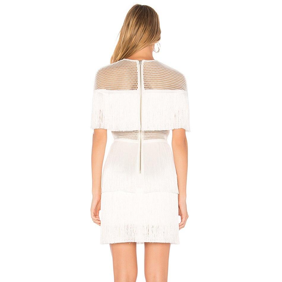 22196bc7b2f 2017 Longues Robe Hiver Robes De Femmes Élégante À Blanc Parti Soirée  Automne Manches Noir Évider ...