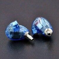 Wooeasy DIY846 5/6 Eenheden Balanced Armature Oortelefoon DIY Headset Nieuwe Blauwe Kleur Custom Made Rond Ear Oortelefoon