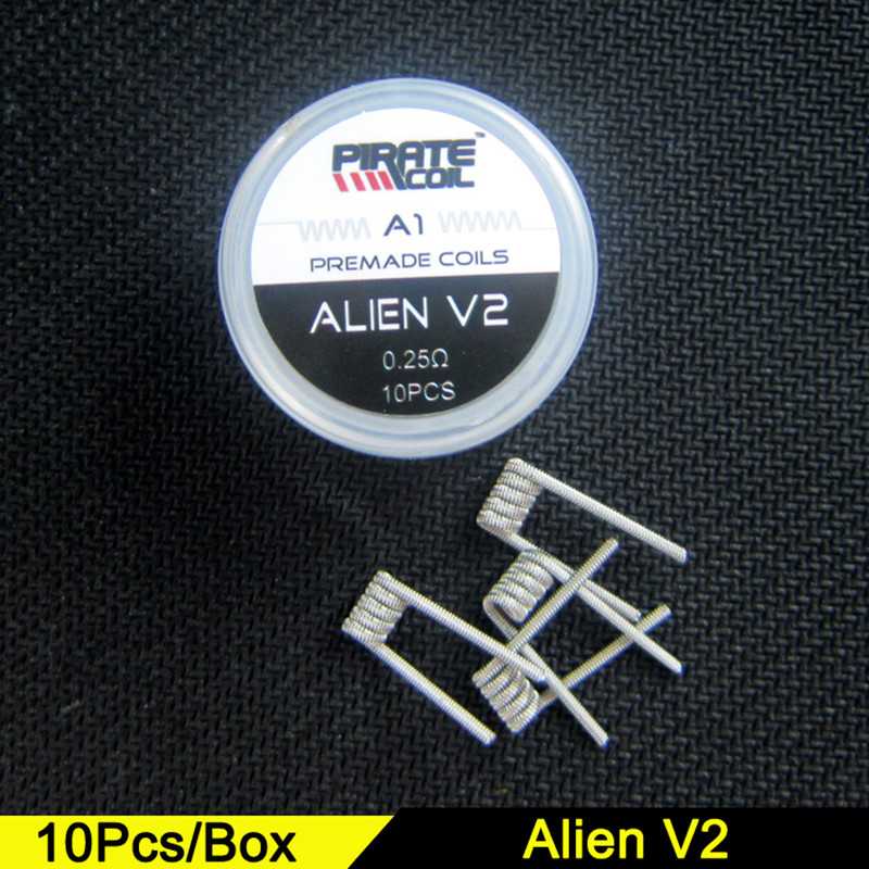 PIRATE COIL Alien V2 Fused Clapton Prebuilt Coil A1 High Density Juggernaut Heating Wire For Rda RBA Diy Vape Coil