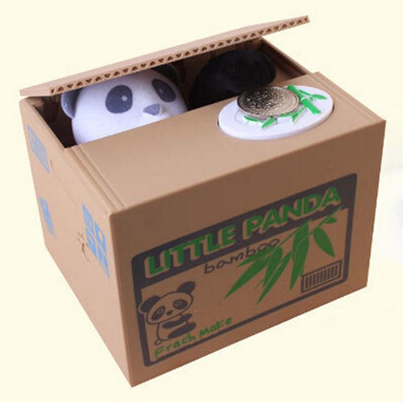 Panda Thief Money boxes toy piggy banks gift children piggy banks Automatic Stolen Coin Piggy Bank Money Saving Box piggy bank