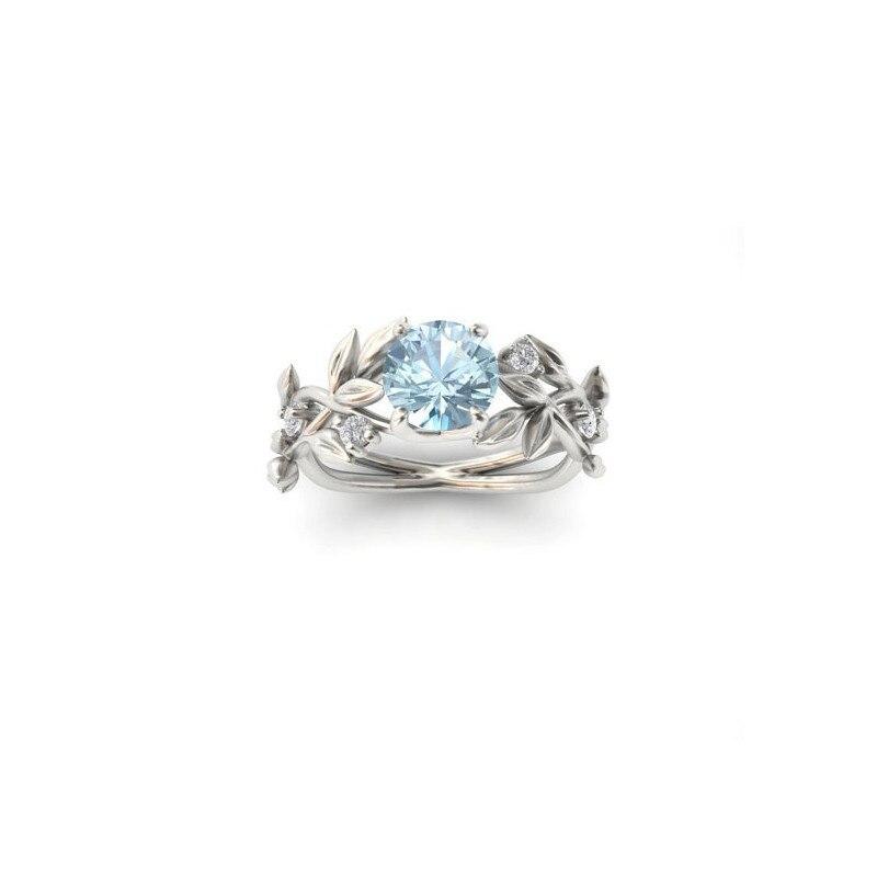 geekoplanet.com - Crystal Flower Vine Leaf Ring