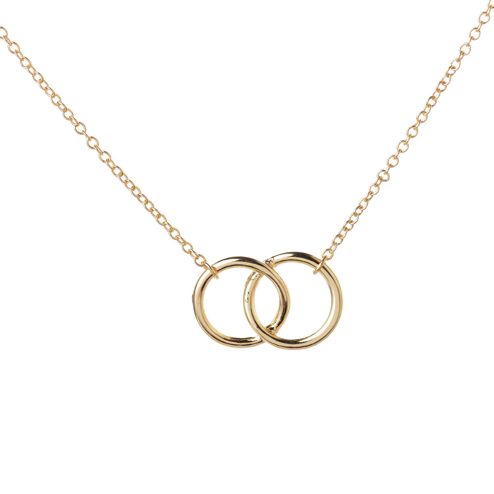 Yiustar infinity double circle for girls interlocking circles dsc6706 dsc6707 dsc6874 new necklace infinity double rings necklace for girls interlocking circles pendant necklace for women party gifts aloadofball Choice Image